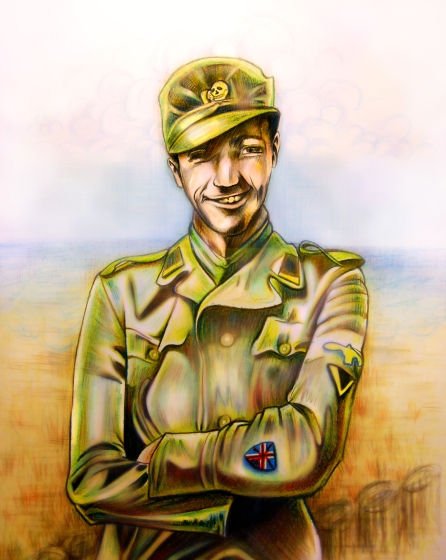 Watercolour Pencil | Book Cover Art for 'Jackie Fisher' WWII Novel | 2013