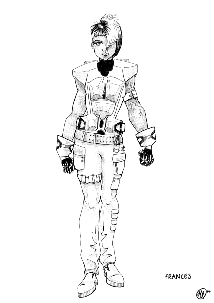Pen and Ink | Character Concept Art for Sci-Fi Film | 2014