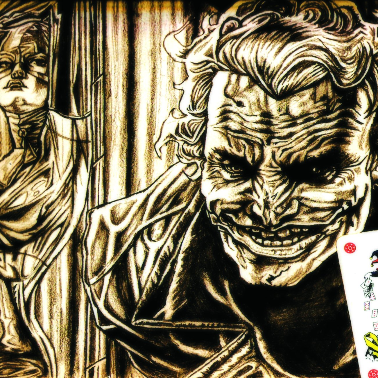 Pencil and Playing Card | A4 Sepia Paper | 2008