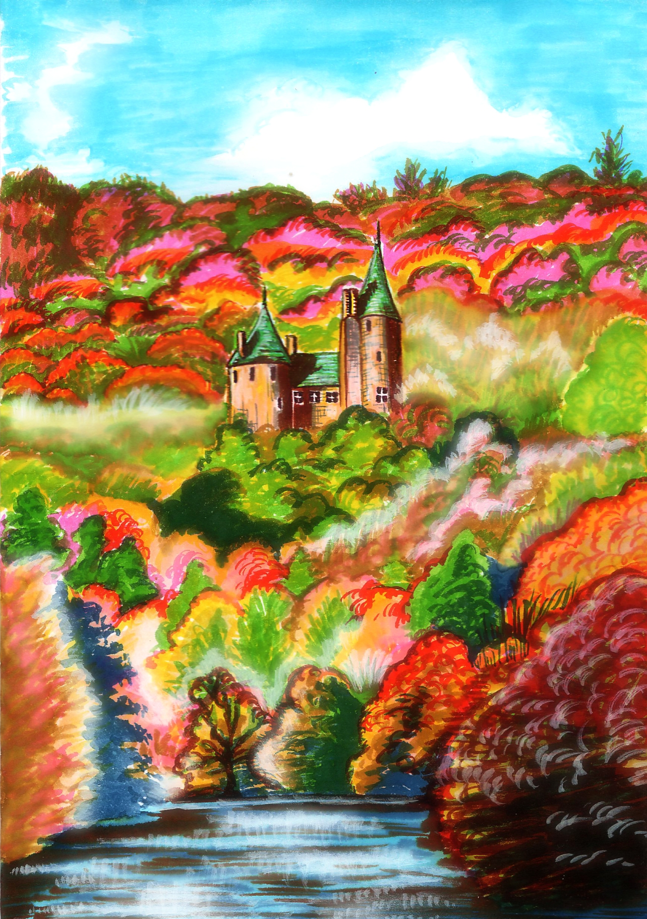 Castle Coch Illustration