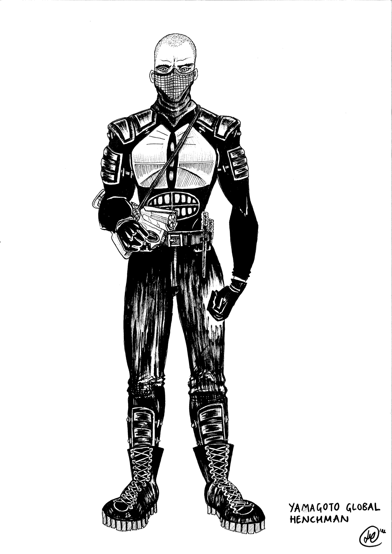 Pen and Ink   Character Concept Art for Sci-Fi Film   2014