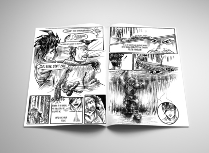 Age of Revolution #1 Comic Book Interior mock up
