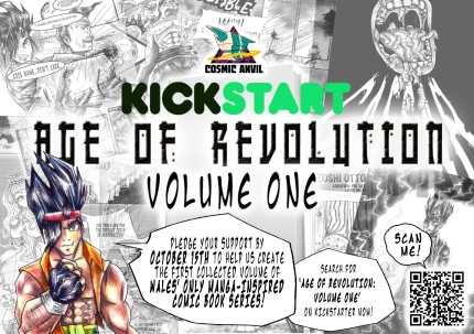 Kickstarter Flyer for Age of Revolution Volume 1 Campaign