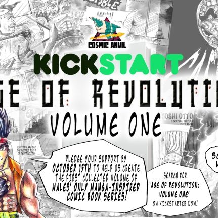 Kickstarter Flyer for Age of Revolution Volume 1 Campaign