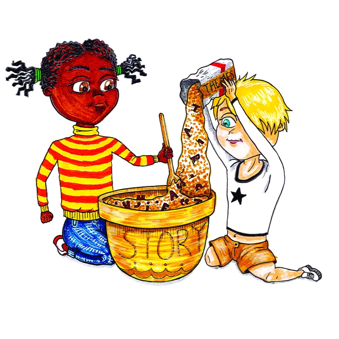 Illustration for 'Baking a Story' Children's Creative Writing Programme