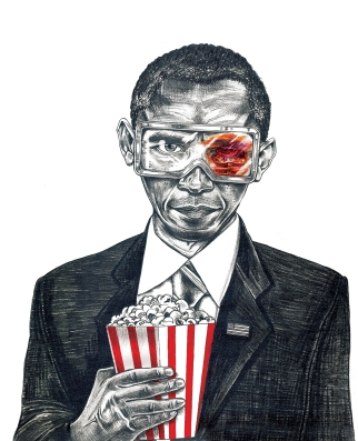 Obama Political Drawing