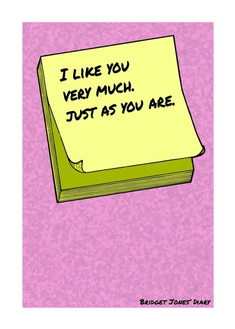 Post-It Love Notes - 'Bridget Jones' Diary' | A5 Greetings Card Design | Adobe Illustrator | 2016