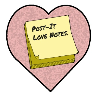Post-It Loves Notes Logo