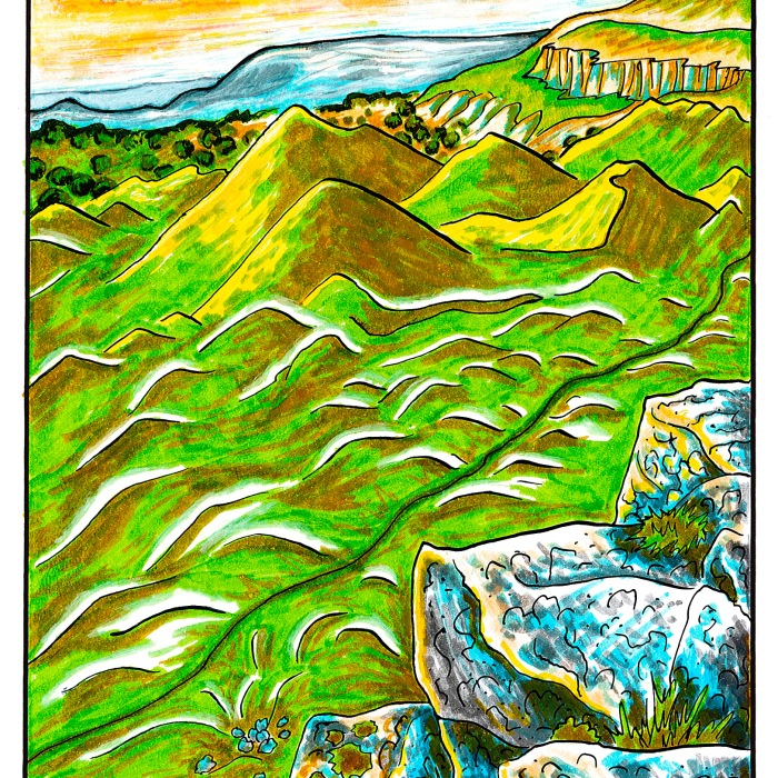 Brecon Beacons A5 Greetings Card