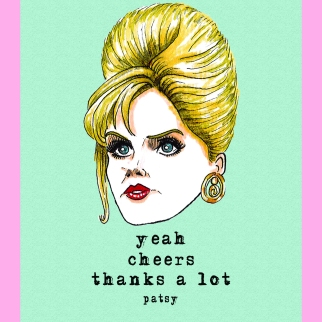 Yeah, cheers, thanks a lot - Patsy