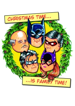 Batman Family Christmas Card