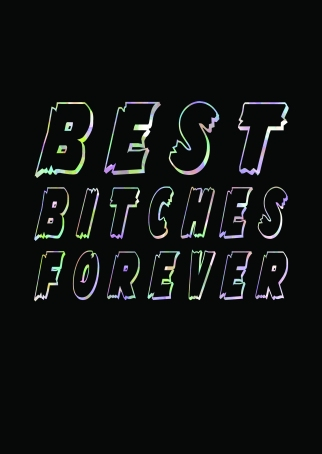 Best Bitches Forever Greetings Card