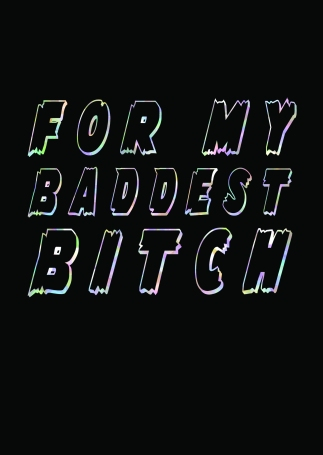 For My Baddest Bitch Greetings Card