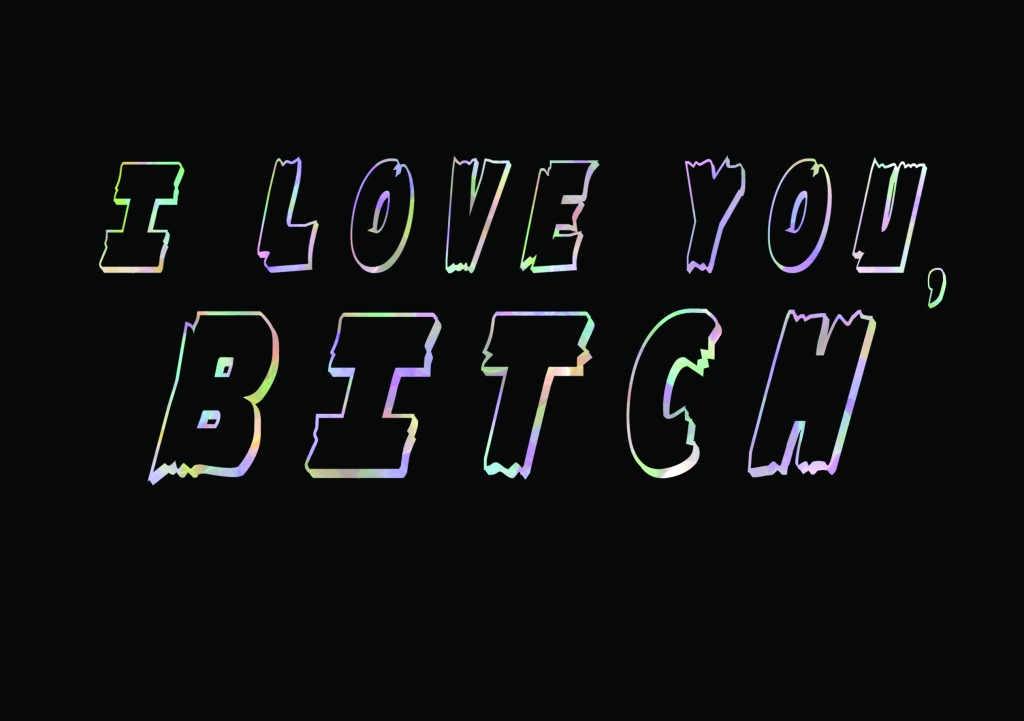 I Love You Bitch Greetings Card