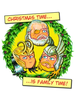 Thor Family Christmas Card Card